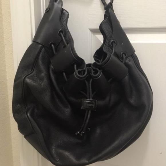 Burberry Handbags - Burberry Prorsum Leather Warrior Hobo f8760080cea33